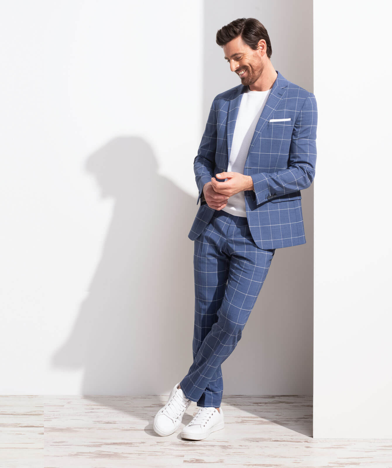 Karierter Komfort-Anzug aus JEBRIC