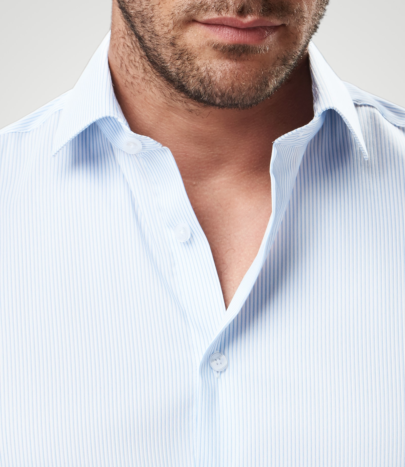 Comfort-Hemd mit dezenten Streifen