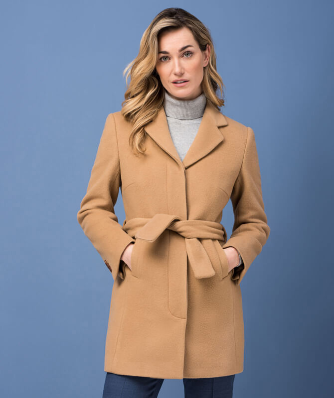 Camelfarbener Mantel