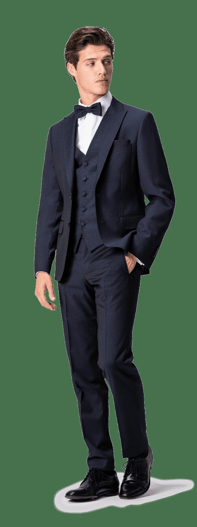 Edler Anzug in Nachtblau