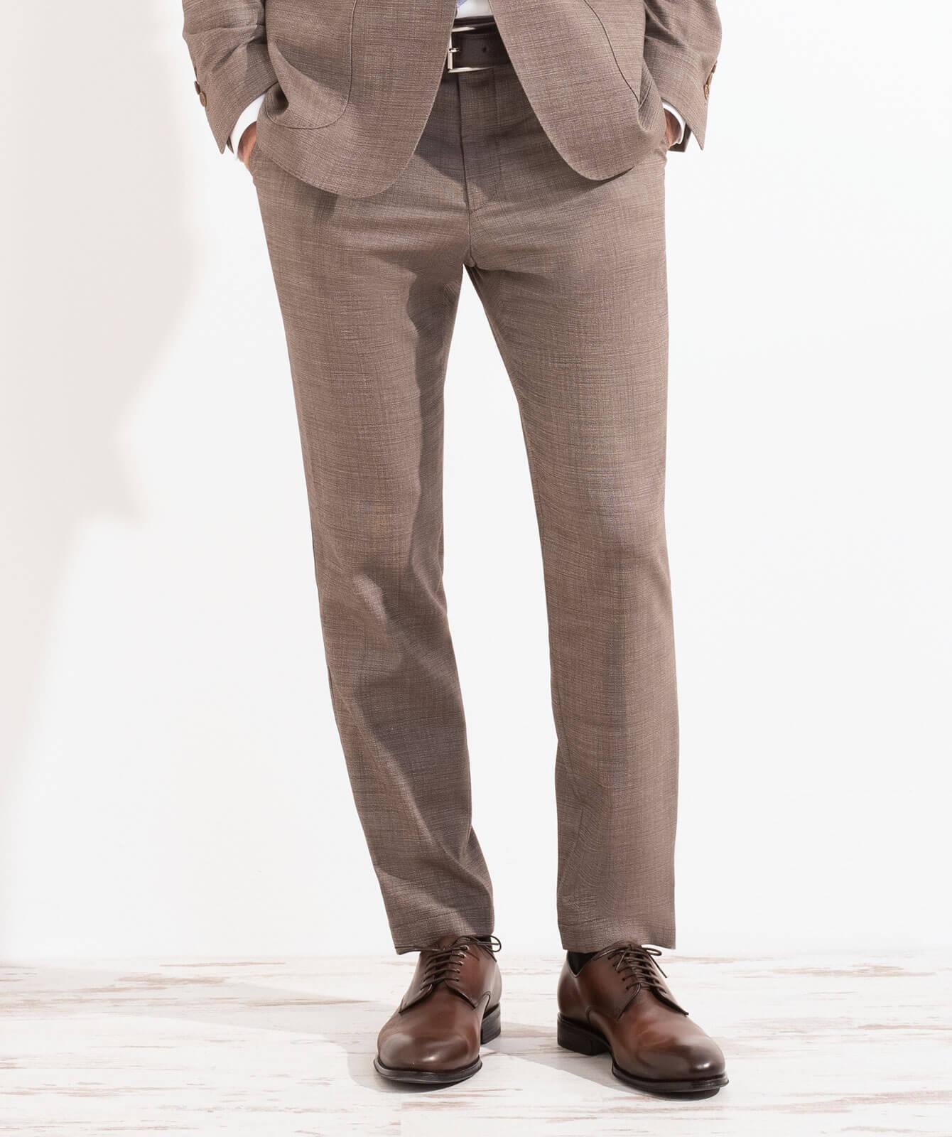 Braune Komfort-Hose aus JEBRIC