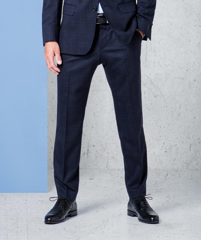 Dynamic Suit-Hose mit subtilem Fensterkaro