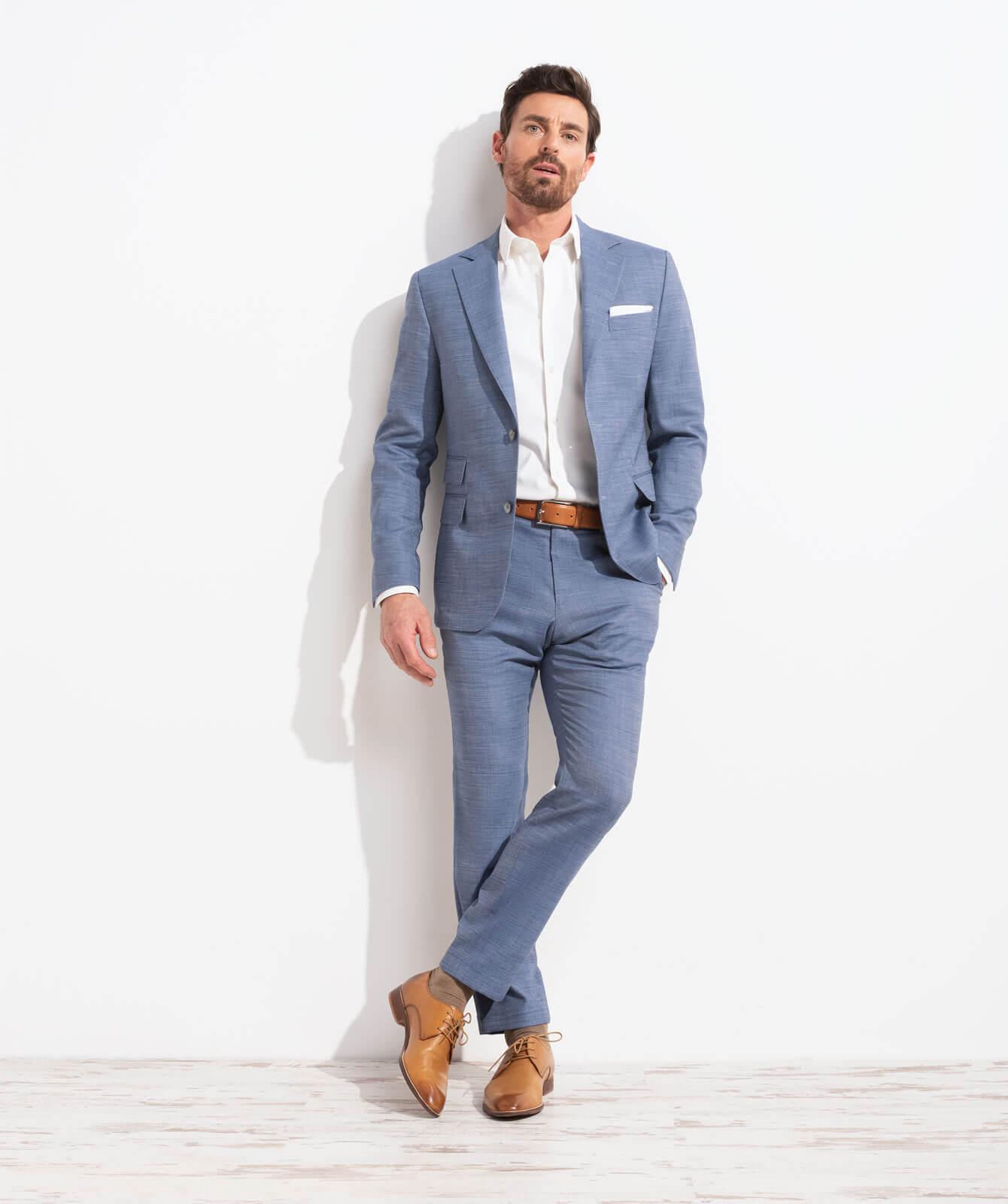 Rauchblauer Komfort-Anzug aus JEBRIC