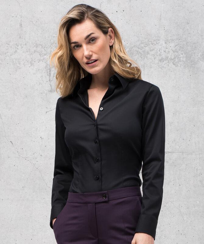 Schwarze Komfort-Bluse