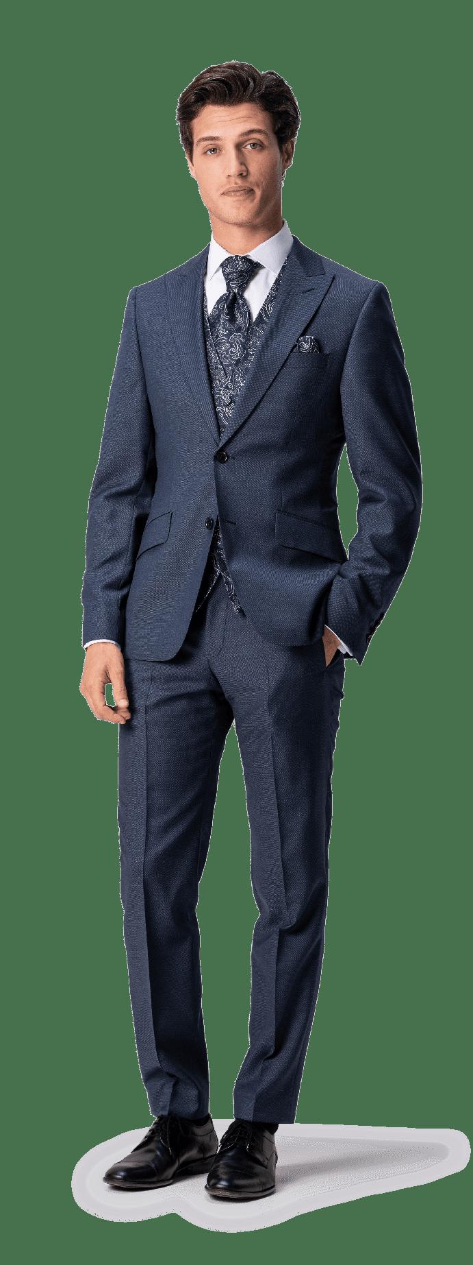 Super 140 Anzug in Two-Tone Optik