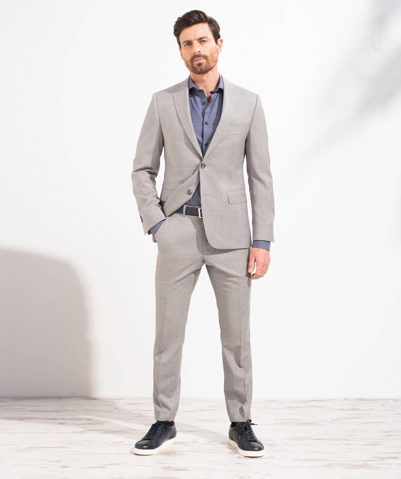 Grauer Cool Wool-Anzug