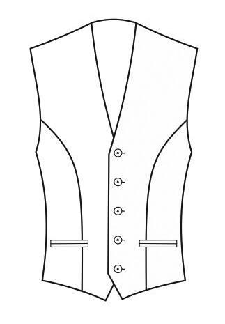 1-Reiher 5-Knopf, mit Paspeltaschen