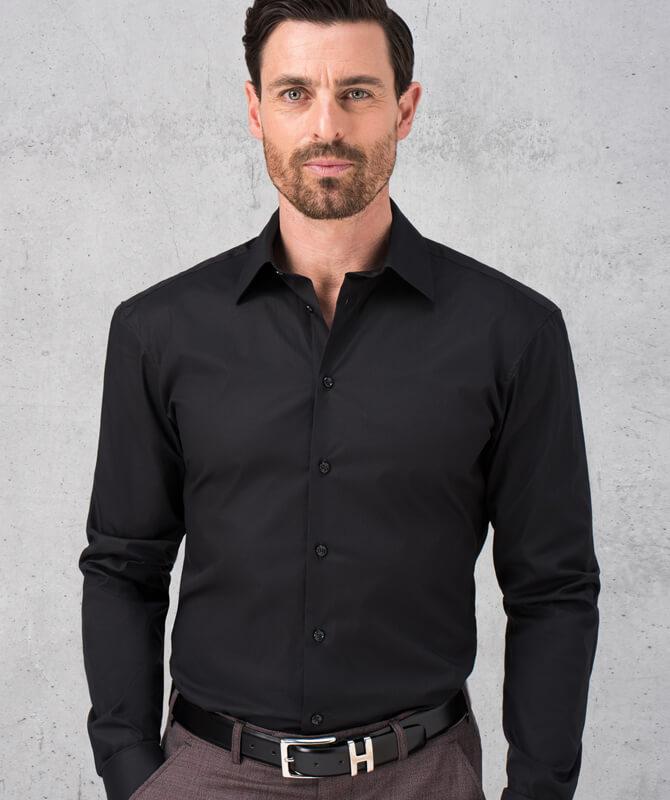 Schwarzes Komfort-Hemd