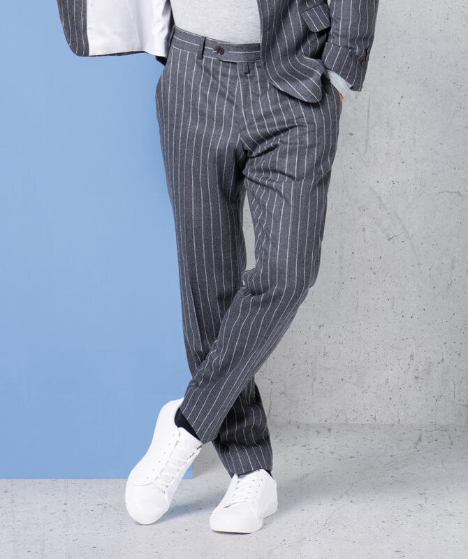 Komfort-Hose in Kreidestreifen Design aus JEBRIC