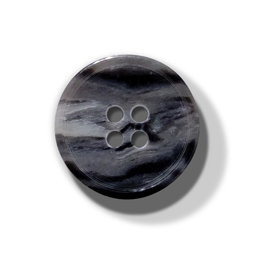 Hornknopf Grau