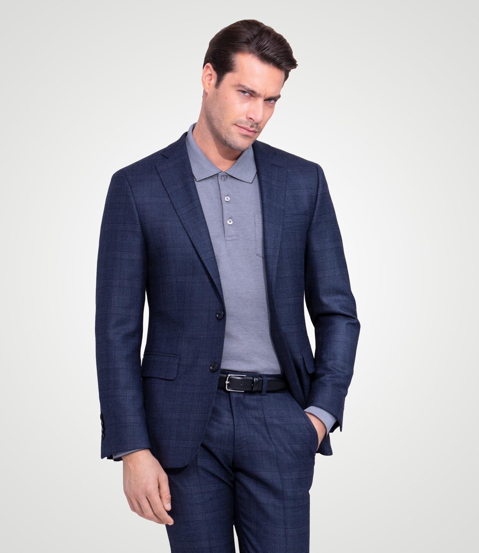 Tonal karierter Anzug