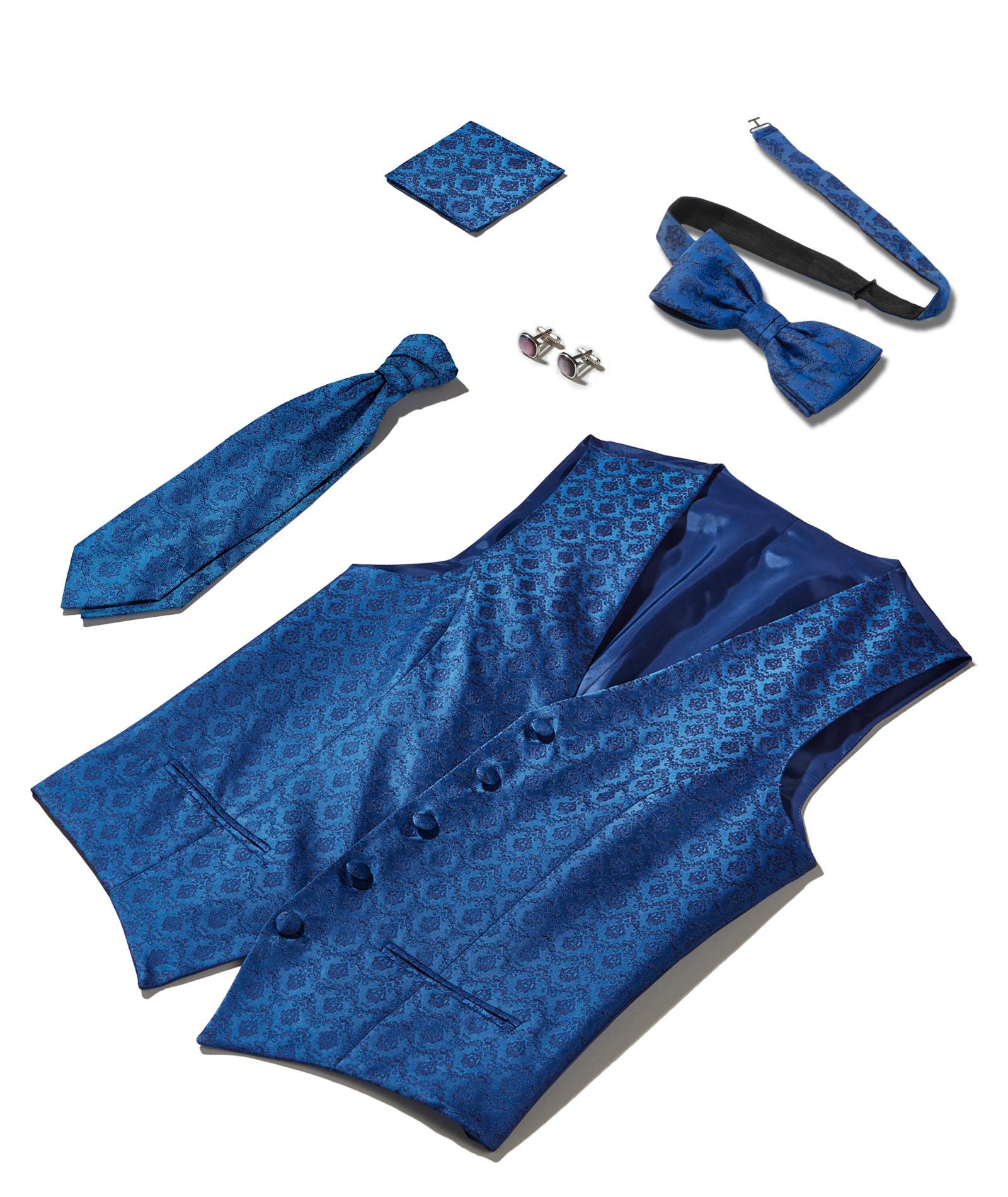 Blaue Barockmusterung