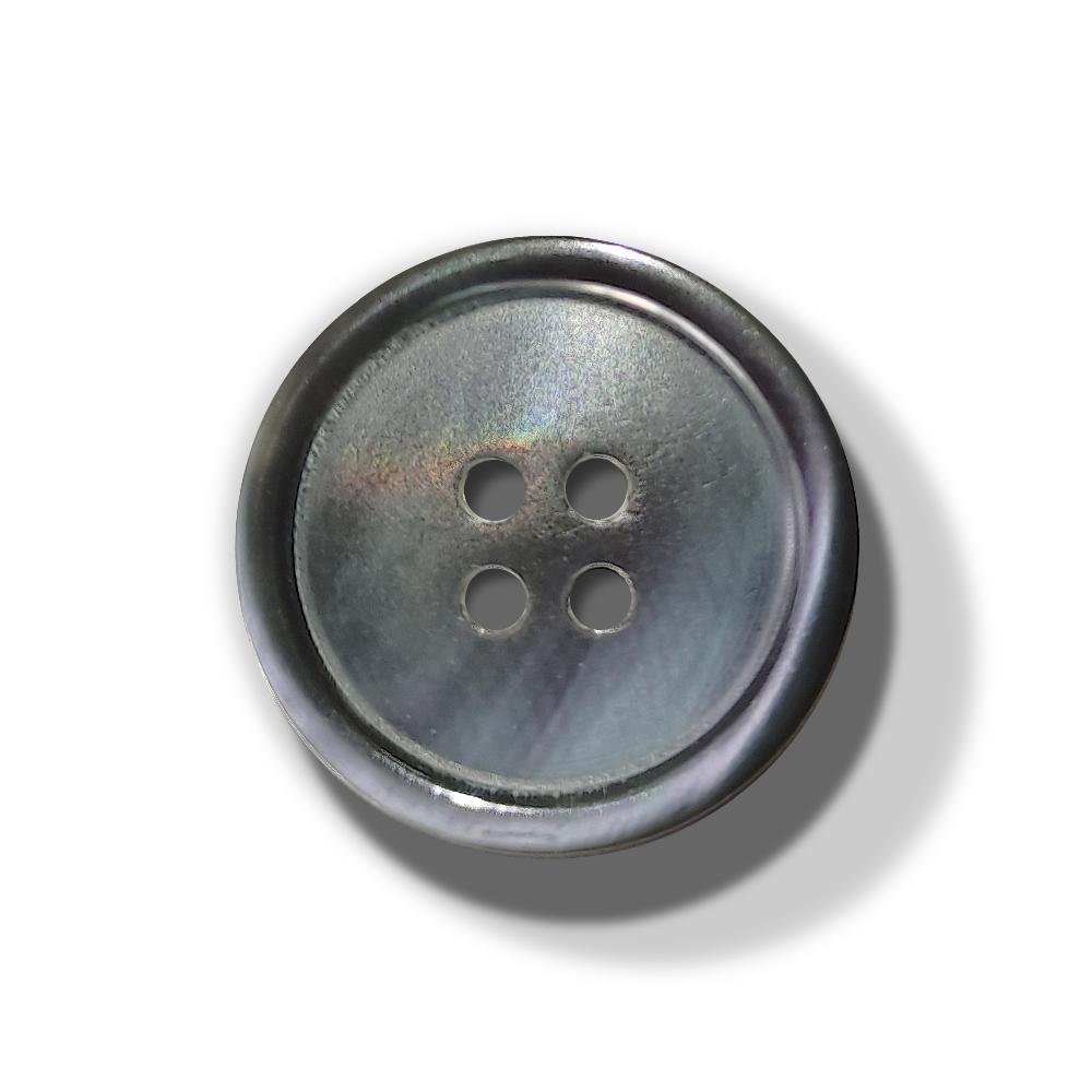 Perlmutt Knopf Silber