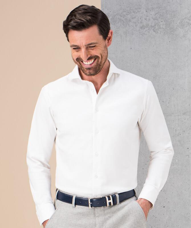Weißes Baumwoll-Hemd